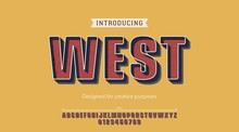 West Typeface.For Labels And Different Type Designs