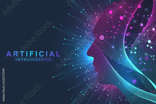 Fotografía  Futuristic Artificial Intelligence and Machine Learning Concept