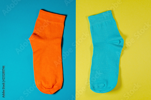 new orange socks Canvas Print