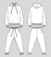 Set Of Sweat Hoodie And Pants