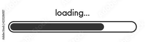 Fotografía Loading progress bar. Black scale.
