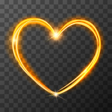 Neon Blurry Love Symbol, Golde...