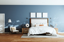 Cozy Modern Bedroom With Loung...
