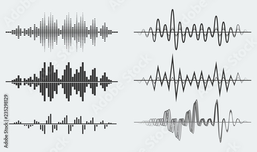 Cuadros en Lienzo  Vector sound waves