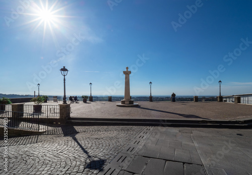 Ariccia, Italy - A little city of Castelli Romani in metropolitan area of Rome. Here a view of historic center.