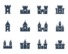 Vector Medieval Castles Icon Set