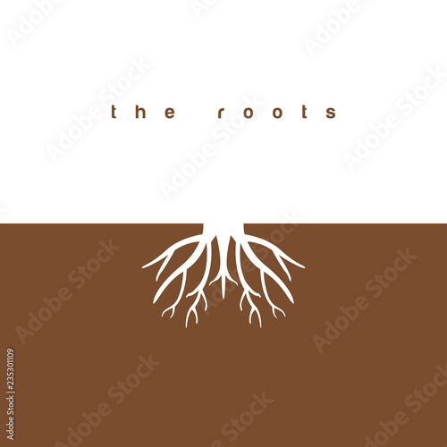 Canvas The roots graphic design template vector illustration