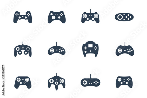 Fotomural Gamepads vector icon set