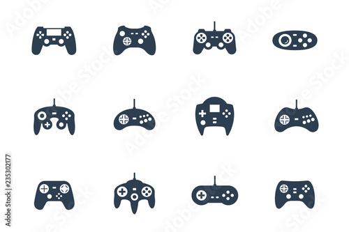 Gamepads vector icon set Tableau sur Toile