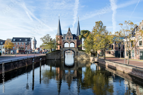Waterpoort in Sneek, the Netherlands Canvas Print