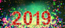 2019 Happy New Year Marquee Le...
