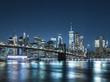 ニューヨーク ブルックリン・ブリッジとマンハッタン