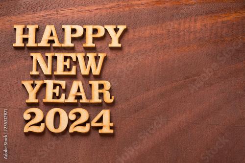 Fotografia  Happy new year 2024 - Text space