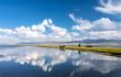 Landschaft am Song Köl See in Kirgistan
