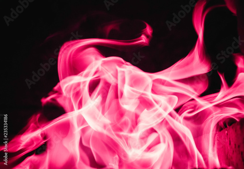 Pink blaze fire flame background and textured - 235334186