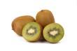kiwi fruit isolated on white - fresh kiwi fruits