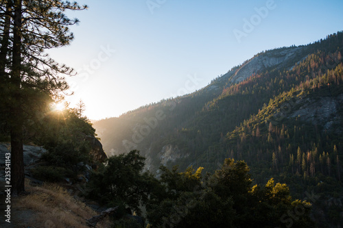 sunset in yosemite valley