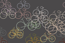 Abstract Conceptual Hand Drawn Outline Of Bicycle. Creative, Style, Background & Wallpaper.