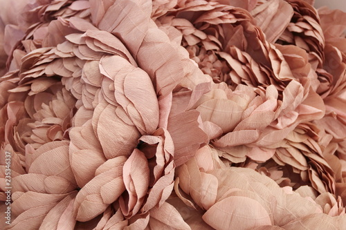 Plakaty brązowe  decorative-paper-pink-pale-flowers-peonies