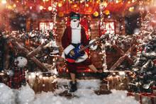 Playing The Guitar At Christmas