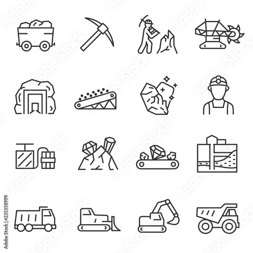 Fotomural Mining, icon set