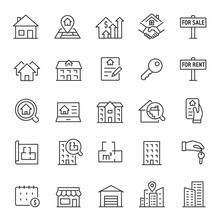 Real Estate, Icon Set. Purchas...