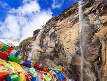 Yubeng Sacred Waterfall. It Is...