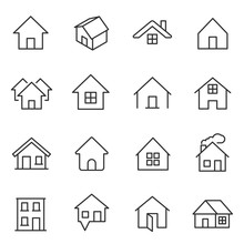 House, Icon Set. Houses, Build...
