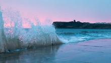 Waves At Scarborough Castle