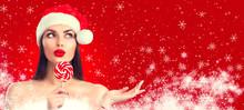 Christmas Woman. Joyful Model ...