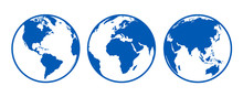 Blue Globes With Continents, V...
