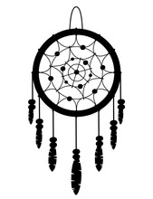 Black Silhouette. Dreamcatcher...