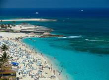 Island Life On The Blue Cable Beach, Nassau, Bahamas