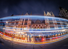 Royal Courts Of Justice In The Night, London