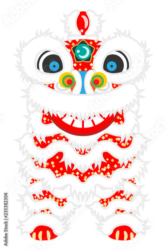 Fotografie, Tablou  Lion Dance front view - The Lion Dance is Chinese new year's traditional culture