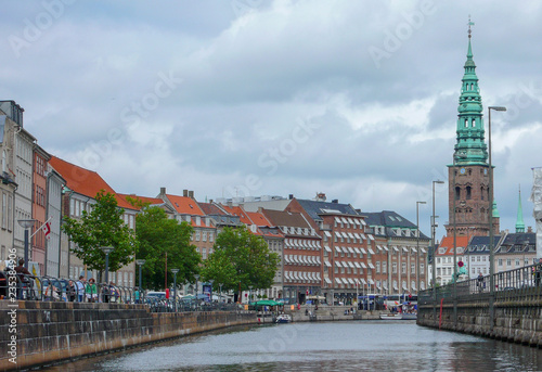 Waterfront Canal District in Copenhagen, Denmark Canvas Print