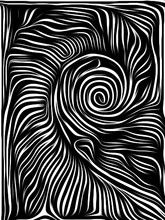 Abstract Woodcut Design