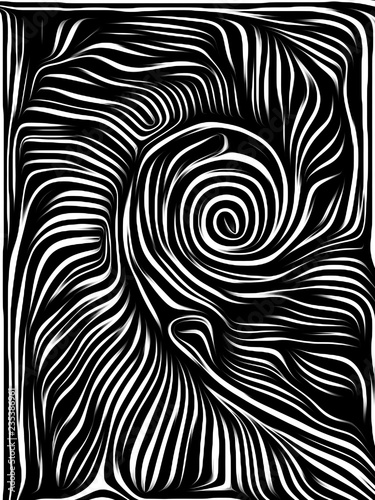 Foto Abstract Woodcut Design