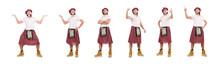 Man In Scottish Skirt Isolated...