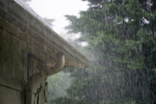 Heavy Rain Pouring Down From P...