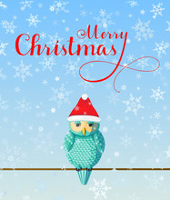 Christmas Greeting Card With C...