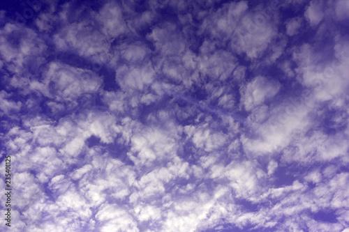 Fényképezés  Beautiful evening cloudy sky atmosphere beautiful bright,