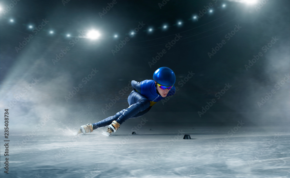 Fototapeta Short track speed skating