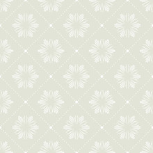 Abstract Floral Pattern For Summer Or Spring Background