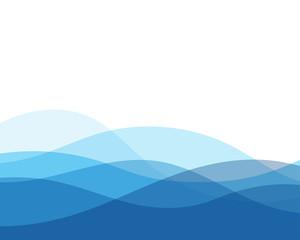 Pozadina plavog vala sažetak vektorske pozadine