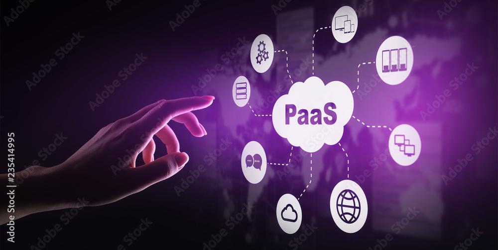Fotografie, Obraz PaaS - Platform as a service, Internet technology and development concept