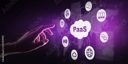 Fotografie, Obraz  PaaS - Platform as a service, Internet technology and development concept