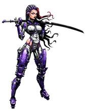 Beautiful Cyborg Girl With Kat...