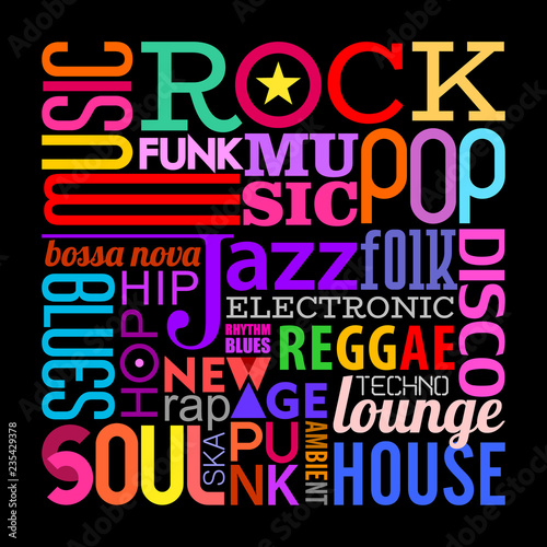 Music Styles text design
