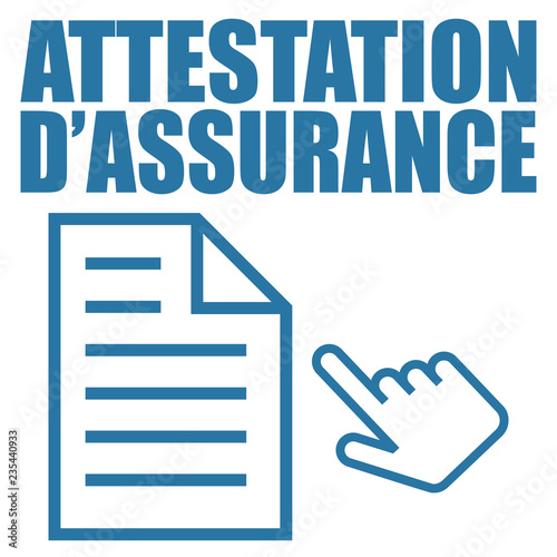 Photo Logo attestation d'assurance.